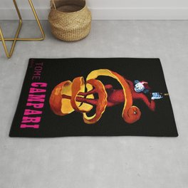 Vintage Pink Tome Bitter Campari Aperitif Advertisement Print Poster Rug