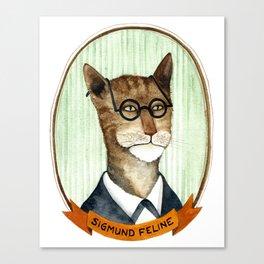 Sigmund Feline Canvas Print