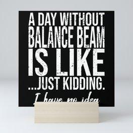 Balance Beam funny sports gift Mini Art Print