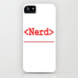 """Nerd and rockstar at the same time? You can be both with this """"Nerd Intellectual Rockstar Tee"""" iPhone Case"""