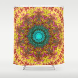 Indian Flowers Shower Curtain