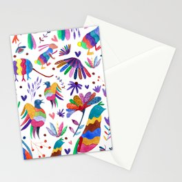 Otomi animals and flowers colorful Stationery Cards