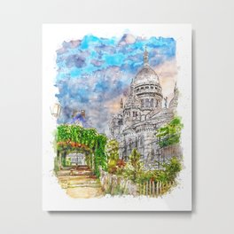 Paris Panorama Metal Print
