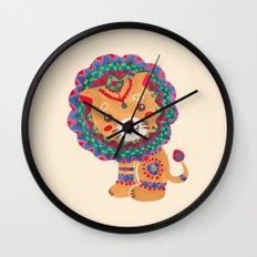 The Little King of the Jungle Wall Clock
