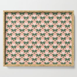 Ajrak Woodblock Floral Print Serving Tray