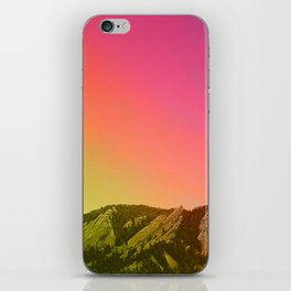 Boulder Colorado Flatirons Decor \\ Chautauqua Park Sunset Red Yellow Photo Nature Bohemian Style iPhone Skin