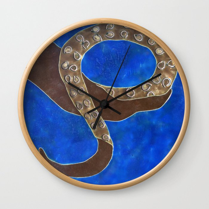 Creature of Water (the tentacle) Wall Clock