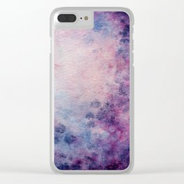 Violet Moon Clear iPhone Case