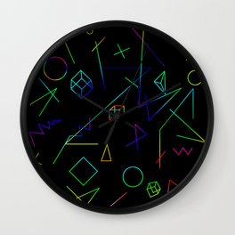 Neon Geometry Wall Clock