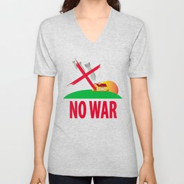No war Unisex V-Neck