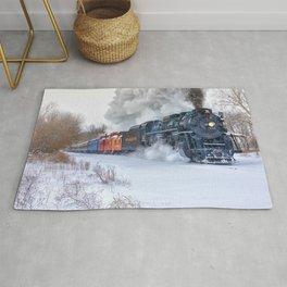 North Pole Express Train (Steam engine Pere Marquette 1225) Rug