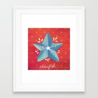 starfish Framed Art Prints featuring Starfish by Anoosha Syed