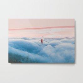 Golden Gate Bridge Above the Clouds Metal Print