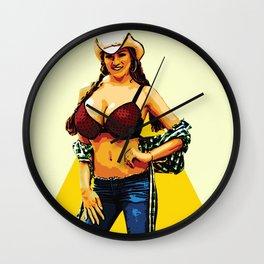 Barn woman Wall Clock