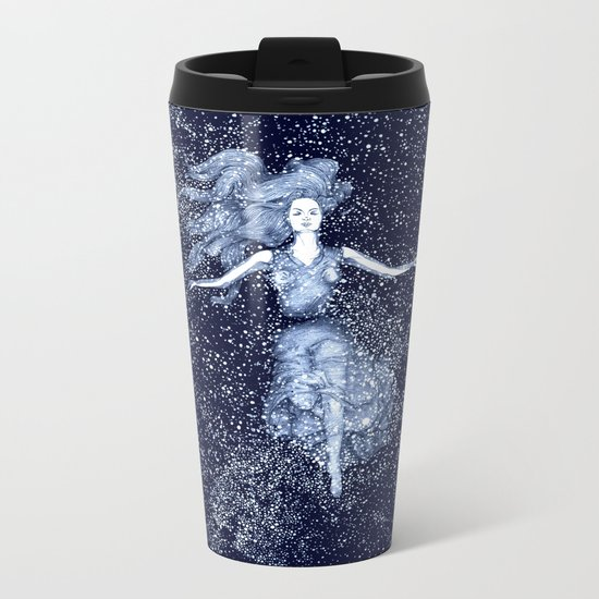 Starlight Swimmer Metal Travel Mug