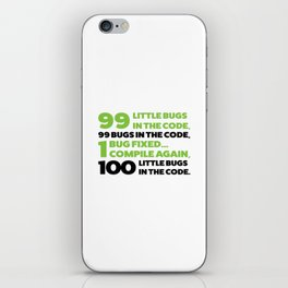 Little bugs in the code iPhone Skin