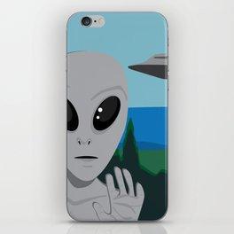 Grey Alien iPhone Skin