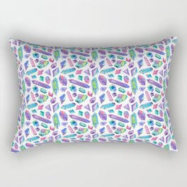 Rainbow watercolour crystals Rectangular Pillow
