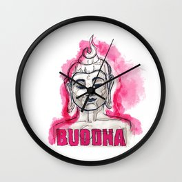 Scribble Buddha Wall Clock
