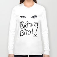 britney spears Long Sleeve T-shirts featuring Britney Spears Eyes by Alli Vanes