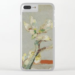 Sprig of Flowering Almond in a Glass Clear iPhone Case
