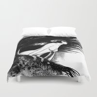 apollonia Duvet Covers featuring asc 602 - La spectatrice (Valentina at the gallery) by From Apollonia with Love