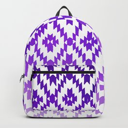ombre purple ikat Backpack