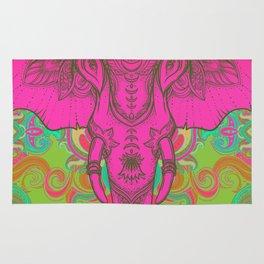 Pink Ganesha Rug