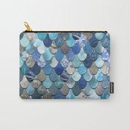 Mermaid Pattern Ocean Blue Carry-All Pouch