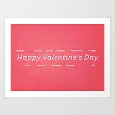 Happy Valentine's Day Art Print