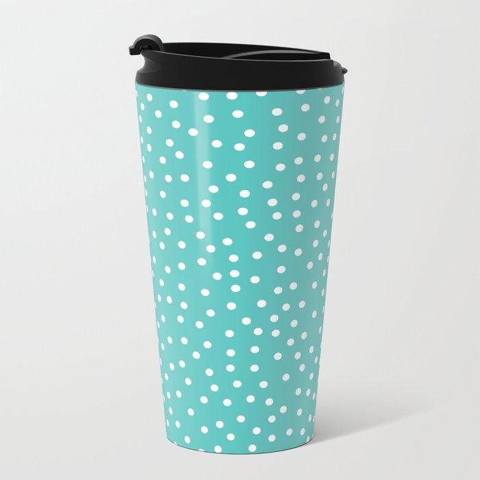 Dots. Metal Travel Mug