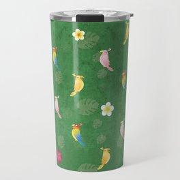 Tiki Birds - Green Pattern Travel Mug