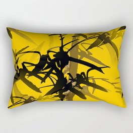 Bamboo Branches On A Yellow Background #decor #society6 #buyart #pivivikstrm Rectangular Pillow