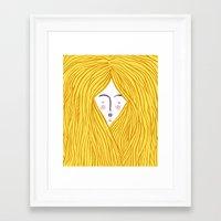 blondie Framed Art Prints featuring Blondie by Katie L Allen