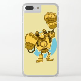 Metal is harder than flesh Clear iPhone Case