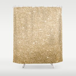 Modern abstract elegant chic gold glitter Shower Curtain