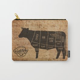 Cow Butcher Chart(woodgrain) Carry-All Pouch