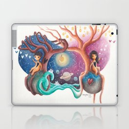 Girl and Boy In Love From Different Worlds Laptop & iPad Skin