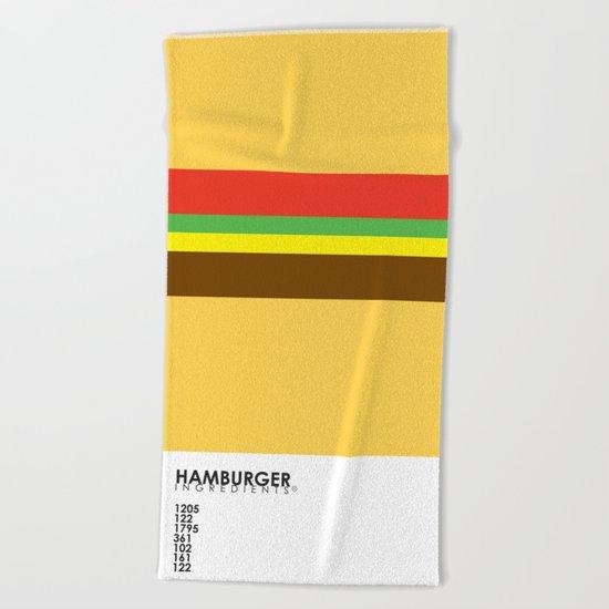 Pantone Food - Hamburger Beach Towel