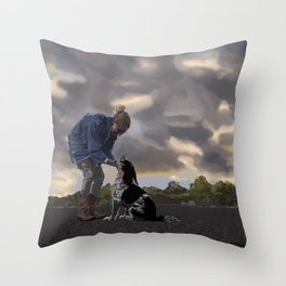A Dog and His Girl Throw Pillow