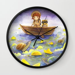 Floating stars Wall Clock