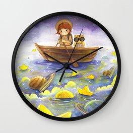 Floating stars Wall Clock