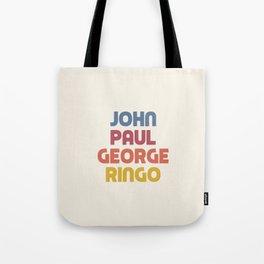 John Paul George Ringo Tote Bag