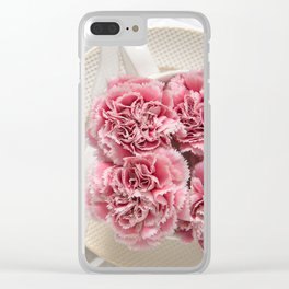 A Cup of Pink Carnations Clear iPhone Case