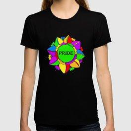 Rainbow Pride Mandala - White Background T-shirt