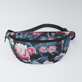 Floral and Flamingo VIII Fanny Pack