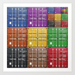 shipping container color box Art Print