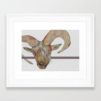goat Framed Art Prints featuring Goat by WaterLily