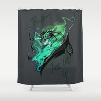 league of legends Shower Curtains featuring League of Legends- Thresh fanart by Babayaga's dream