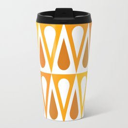 Geometric Pattern #57 (orange teardrop triangles) Travel Mug